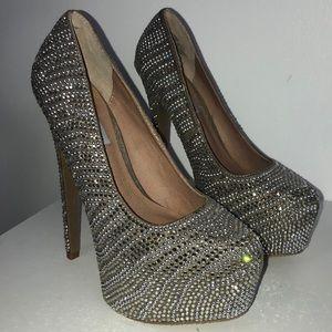 Steven madden crystal heels